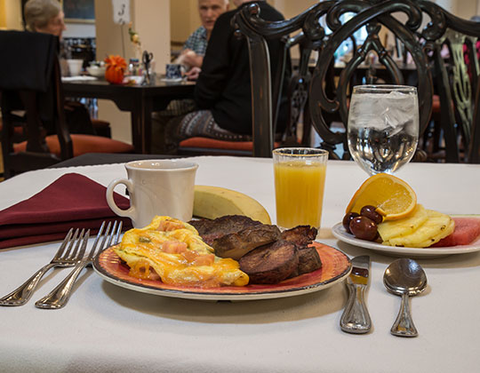 A delicious breakfast awaits you at Parkview Senior Living Community!