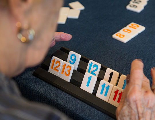 Here are Parkview our residents take advantage of the wide range of activities offered including lots of games.