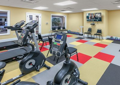 Staying fit at our state-of-the-art fitness center is fun and easy.
