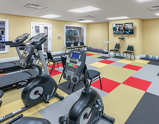 State-of-the-art fitness center provided on premises.