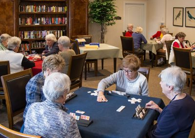 Cards and games are a daily activity and a great way to make new friends