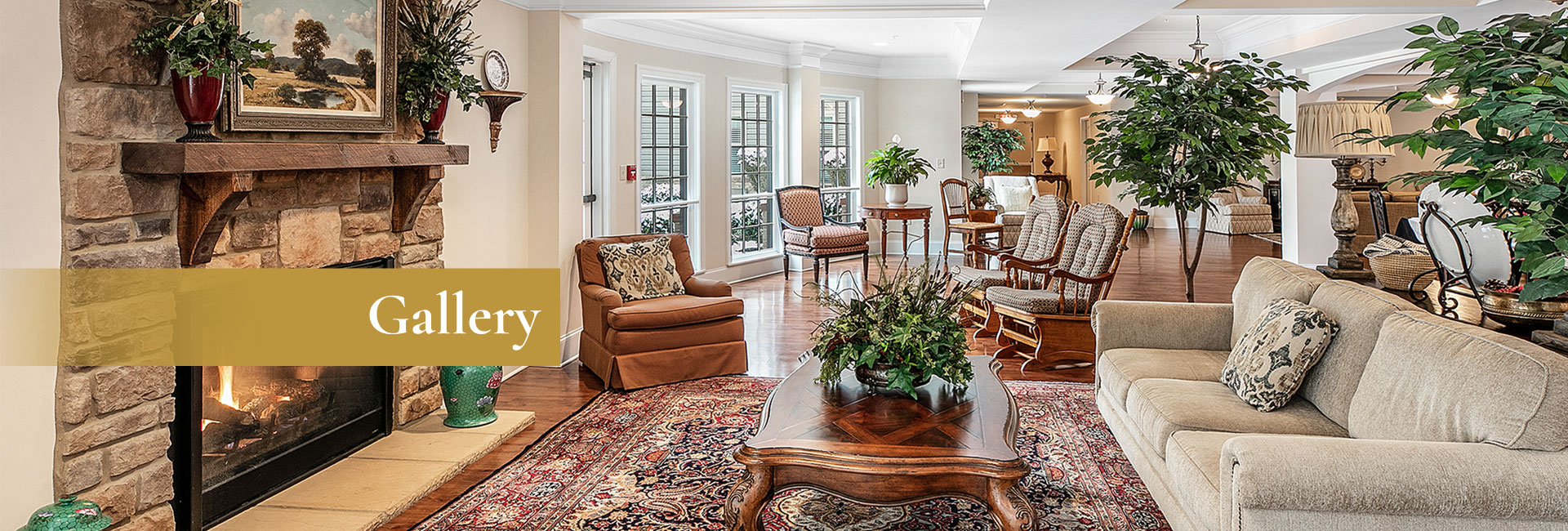This lovely lounge area is just another common area where residents can relax with other residents or visit with friends and family in a safe and comfortable environment.