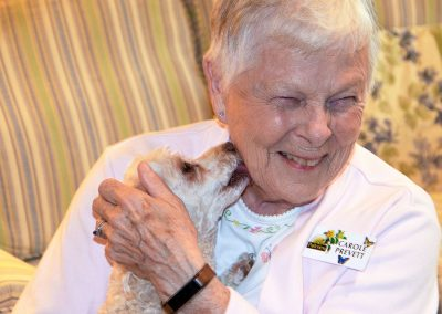 Parkview Senior Living is a pet friendly community.