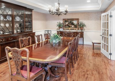 Private dining room where you can reserve quiet time with your family and friends.