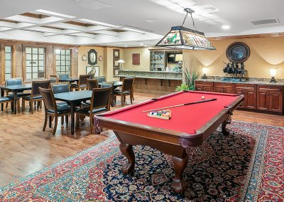 The pub and lounge is a great place to hang out and shoot pool, tell stories, play some cards and build lasting friendships.