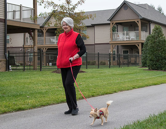 Walking trails provide opportunities for exercising your pet or for organizing walking groups.