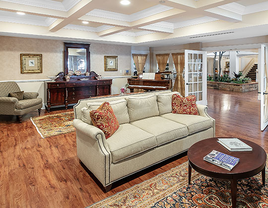 Parkview provides lots of comfortable areas where our residents can gather with other residents or can visit with family and friends.