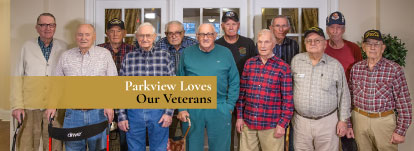 Veteran's may be eligible for benefits to help them with some of their living expenses at Parkview.